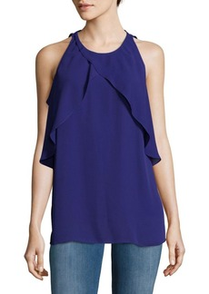 Vince Camuto Crossover Ruffle Top