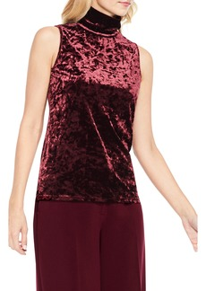 Vince Camuto Crushed Velvet Turtleneck Top
