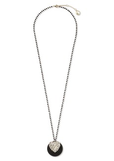 Vince Camuto Crystal Heart Disc Pendant Necklace