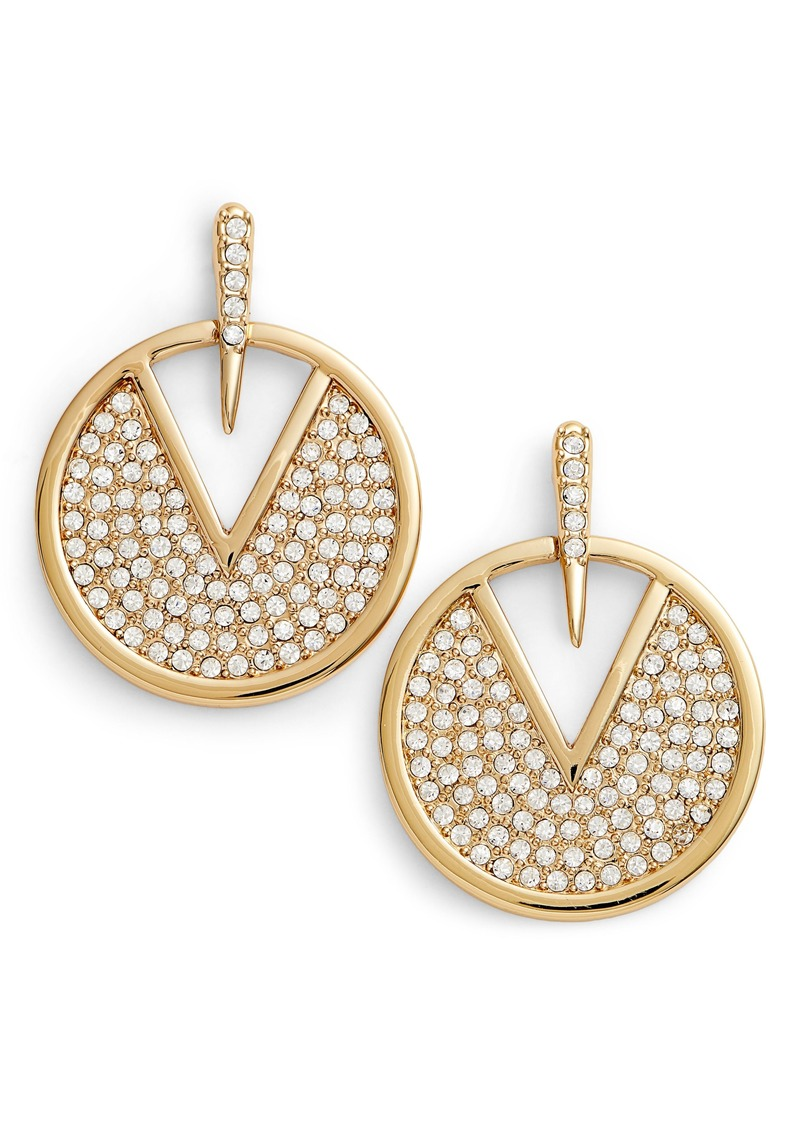 Vince Camuto Crystal Pavé Disc Earrings