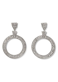 Vince Camuto Crystal Pavé Door Knocker Earrings