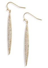 Vince Camuto Crystal Pavé Linear Drop Earrings