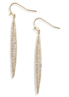 Vince Camuto Crystal Pavé Linear Drop Earrings