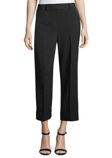Vince Camuto Cuffed Straight-Leg Cropped Pants