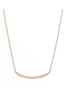 Vince Camuto Curved Pavé Bar Necklace
