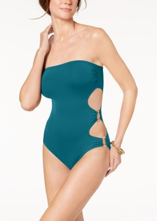 Vince Camuto Cut-Out Side Bandeau One-Piece Swimsuit Women's Swimsuit