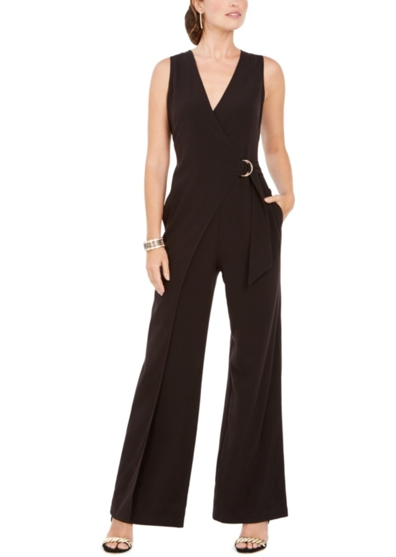 Vince Camuto D-Ring Belted Wrap Jumpsuit