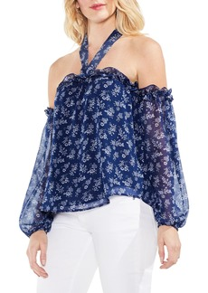 Vince Camuto Dainty Calico Off the Shoulder Top