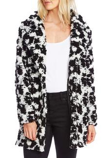 Vince Camuto Dalmatian Pile Fleece Jacket