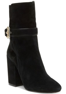 Vince Camuto Damefaris Block-Heel Buckle Booties Women's Shoes
