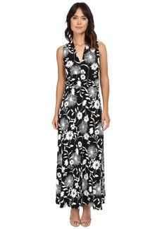 Vince Camuto Dandelion Silhouette Halter Maxi Dress