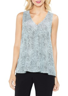 Vince Camuto Dashes Sleeveless Drape Front Top