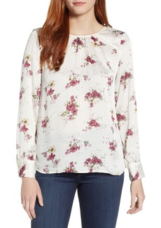Vince Camuto Delicate Bouquet Mixed Media Top