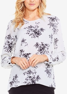 Vince Camuto Delicate Bouquet Printed Blouse