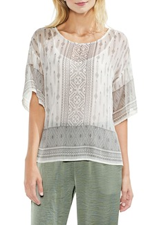 Vince Camuto Delicate Diamond Geo Sheer Top