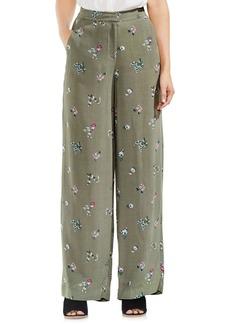 Vince Camuto Delicate Floral Wide Leg Pants