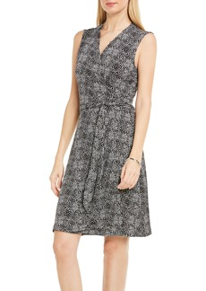 Vince Camuto Delicate Pebbles Wrap Dress