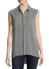 Vince Camuto Demure Striped Sleeveless Shirt