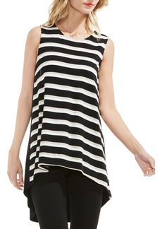 Vince Camuto Desert Stripe High/Low Blouse