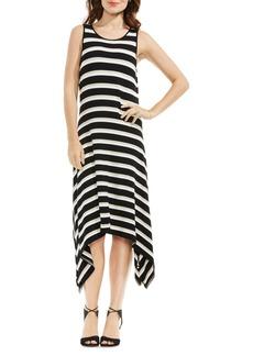 Vince Camuto Desert Stripe Sharkbite Hem Dress