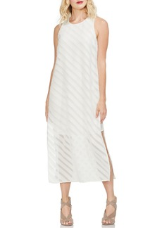 Vince Camuto Diagonal Stripe Chiffon Maxi Dress