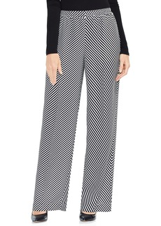 Vince Camuto Diagonal Stripe Wide Leg Pants