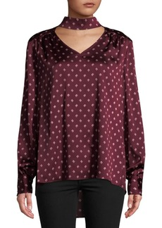 Vince Camuto Diamond Heirloom Choker Blouse