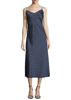 Vince Camuto Diamond Heirlooms Printed Maxi Slip Dress