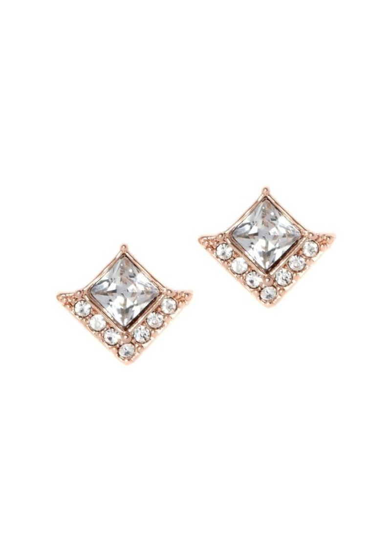 product jewelry metallic in gold gorjana gallery diamond normal lyst stud earrings shaped