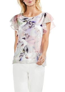 Vince Camuto Diffused Bloom Blouse