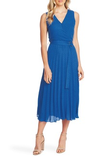 Vince Camuto Ditsy Dot Sleeveless Pleated Midi Dress