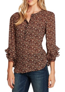 Vince Camuto Ditsy Fields Long Sleeve Blouse