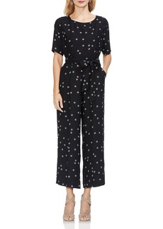 VINCE CAMUTO Ditsy Floral Belted Jumpsuit