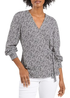 VINCE CAMUTO Ditsy Floral Side Tie Top