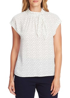 Vince Camuto Ditsy Fragment Tie Neck Top