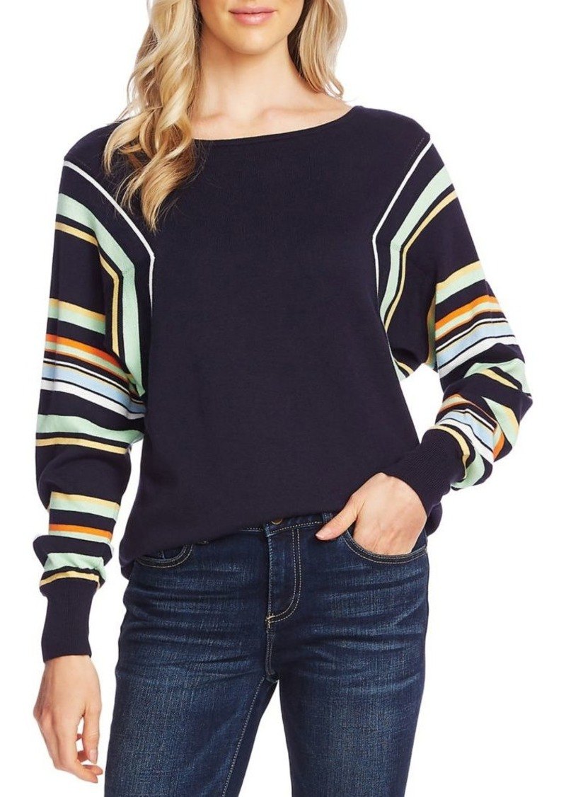 Vince Camuto Dolman-Sleeve Cotton-Blend Sweater