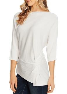 VINCE CAMUTO Dolman-Sleeve Side Twist Top