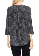 Vince Camuto Dotted Elbow Sleeve Top