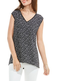 Vince Camuto Dotted Harmony Mixed Media Top