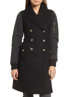 Vince Camuto Double Breasted Hybrid Coat