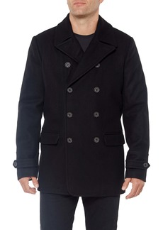 Vince Camuto Double Breasted Wool Blend Coat