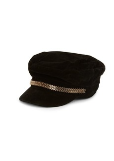 Vince Camuto Double Chain Military Cap