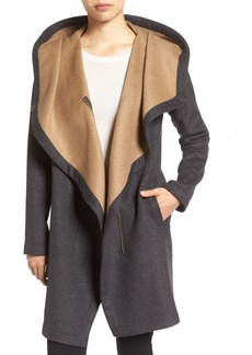 Vince Camuto Double Face Hooded Drape Coat