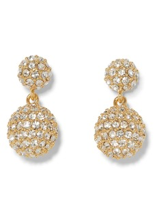 Vince Camuto Double Fireball Pavé Drop Earrings
