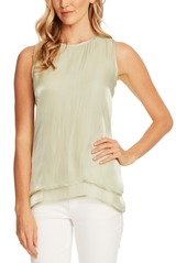 Vince Camuto Double-Hem Iridescent Top