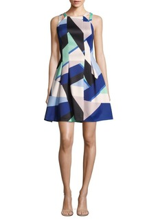 Vince Camuto Double Strap Scuba Fit-and-Flare Dress