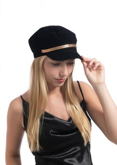 Vince Camuto Double V Chain Military Cap