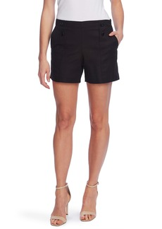 Vince Camuto Doubleweave Button Shorts