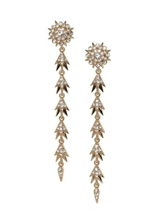 Vince Camuto Drama Goldtone & Crystal Starburst Linear Drop Earrings