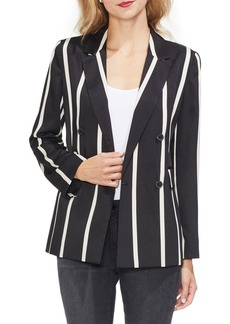 Vince Camuto Dramatic Stripe Double Breasted Blazer (Regular & Petite)